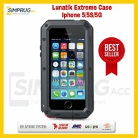 Case Iphone 5 5S 5G Lunatik Taktik Extreme Full Cover Bumper Glass