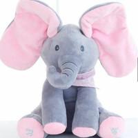 hadiah boneka mainan anak bayi peek a boo gajah cilukba bernyanyi