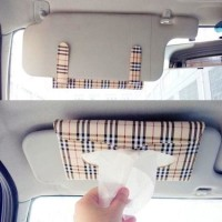 Car Holder Tissue Motif LV Tempat Tisu Mobil Vehicle Sun visor Tissu