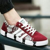 PINSV Sepatu Casual Sepatu Fashion Pria Sepatu Kets (merah/putih)