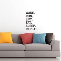Wall Stiker Dinding Kaca Motivasi Quotes Wake Run Kantor Kerja Sticker