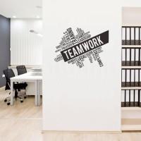 Wall Stiker Dinding Kaca Motivasi Team Work Quotes Kantor Sticker