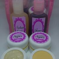 Cream SUPER glowing 1paket , untuk kulit yang kebal pemutih