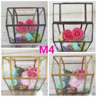 POT TERRARIUM GEOMETRIC M4 POT KACA RING BEARER kotak kaca cincin