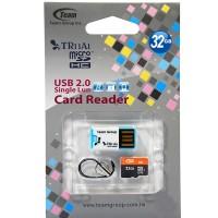 Team MicroSD 32GB UHS-1 + Card Reader
