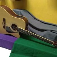 Gitar akustik elektrik cort gibson jumbo natural equalizer