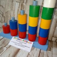 Mainan Edukasi Anak- Mainan Tangga Silinder