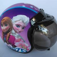 Helm Anak Bogo Motif Usia 2-7 Tahun  - Frozen Ungu
