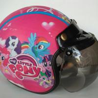 Helm Anak Bogo Motif Usia 2-7 Tahun - Half Face Little Pony Pink