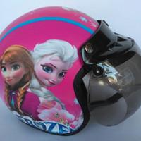 Helm Anak Bogo Motif Usia 2-7 Tahun - Frozen Pink