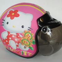 Helm Anak Bogo Motif Usia 2-7 Tahun - Hello KItty Pink