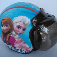 Helm Anak Bogo Motif Usia 2-7 Tahun - Frozen Biru