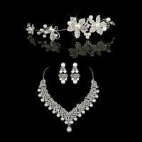 Perhiasan Mahkota Kalung Pengantin Modern-Paket Aksesoris Wedding -018