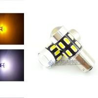 Spextrum LED Lampu Sein Sen Reting 1156 S25 Bayonet 5630 24 Mata+Lensa - Putih