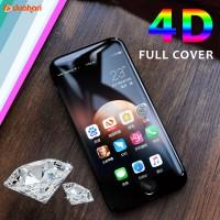 4D Tempered Glass iPhone 8 / 8 PLUS 8+ Screen Protector Full Cover - Delapan PUTIH