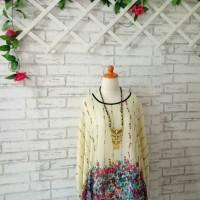Batwing blouse Murah/Kalong blouse jumbo flowery Red
