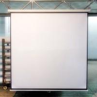 "Screen projector wall mount 70"" - layar proyektor manual 70"" New"