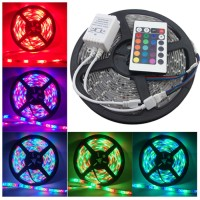 Lampu Led Lestrip Strip RGB Warna Warni 5m AC 220v + Adaptor + Remote