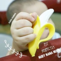 Mainan Gigi Nuby Nana Nubs NanaNubs Banana Teether Toothbrush