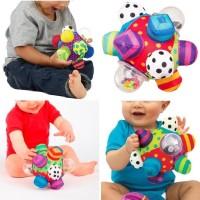 bouncer Sassy Bumpy Ball, Mainan Bola untuk Bayi 6 Bulan