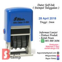Stempel Tanggal / Dater Otomatis Shiny S300 ( Mini Dater Stamp )
