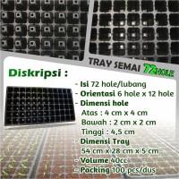 Tray Semai Pot Tray - Bibit Untuk Benih Tanaman 72 Hole