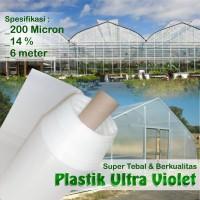 Plastik UV Green House ukuran 200 Micron - 14 Persen - Lebar 6 m