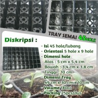 Tray Semai Pot Semai Seedling Tray Pot Tray Bibit Untuk Benih  45 Hole