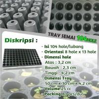 Tray Semai Pot Semai Seedling Tray Pot Tray Bibit Untuk Benih 104 Hole