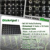 Tray Semai - Bibit Untuk Benih Tanaman 50 Hole