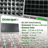 Tray Semai Pot Semai Seedling Tray Pot Tray Bibit Untuk Benih 200 hole