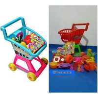 (Diskon) Trolley mainan anak supermarket set