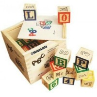 (Dijamin) Wooden toy/Mainan educative/ABC blocks set 48 pcs
