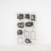 Clear / Silicone / Rubber Stamp Scrapbook 10 cm x 15 cm