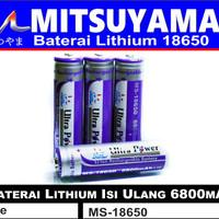 Baterai / Batre / Batere Ultrafire Mitsuyama Swat 18650 asli 6800 mAH - ada kepala
