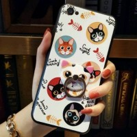 CASE VIVO Y69  WHITE CAT WITH RING