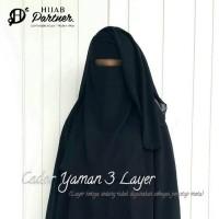 Cadar Yaman 3 Layer / Purdah / Burqo / Niqob Syari