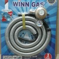 selang paket win gas +meteran/regulator gas