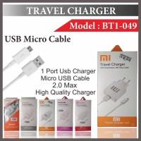 (Charger) Charger Micro USB 2A Merk Xiaomi Lenovo Advan Smartfren Cro