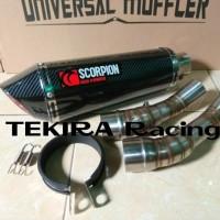 Knalpot Scorpion Red Power Carbon Slip On ALL New CBR 150R Facelift