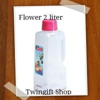 Botol air minum kulkas, Lion Star-Flower, 2 liter.(KHUSUS GOJEK).