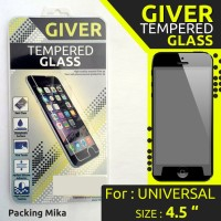 """Anti Gores TEMPERED GLASS GIVER UNIVERSAL SIZE 4.5 """" INCHI Murah"""