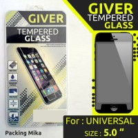 """Anti Gores TEMPERED GLASS GIVER UNIVERSAL SIZE 5.0 """" INCHI Murah"""
