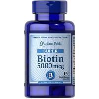 Puritans Pride Super Biotin 5000 Mcg Kesehatan Rambut Kulit 120 Softg