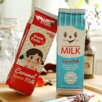 Kotak Pensil Bentuk Kotak Susu / Milk Tempat Alat Tulis Diskon