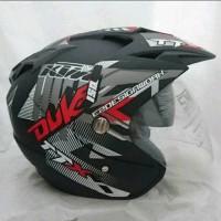 Helm Double Visor Kaca KTM Duke Red Doff