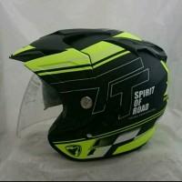 Helm Double Visor Kaca R9 Yellow Stabilo Doff