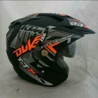 Helm Double Visor Kaca KTM Duke Orange Doff
