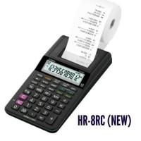 Casio HR-8RC (kalkulator, kertas, tinta, baterai & adaptor)Paket Print