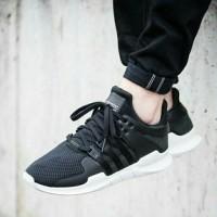 Sepatu Sneakers Adidas EQT Support ADV Black and White Premium